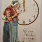 Antique New Year Postcard Tuck and Sons Series 12 Posted Divided