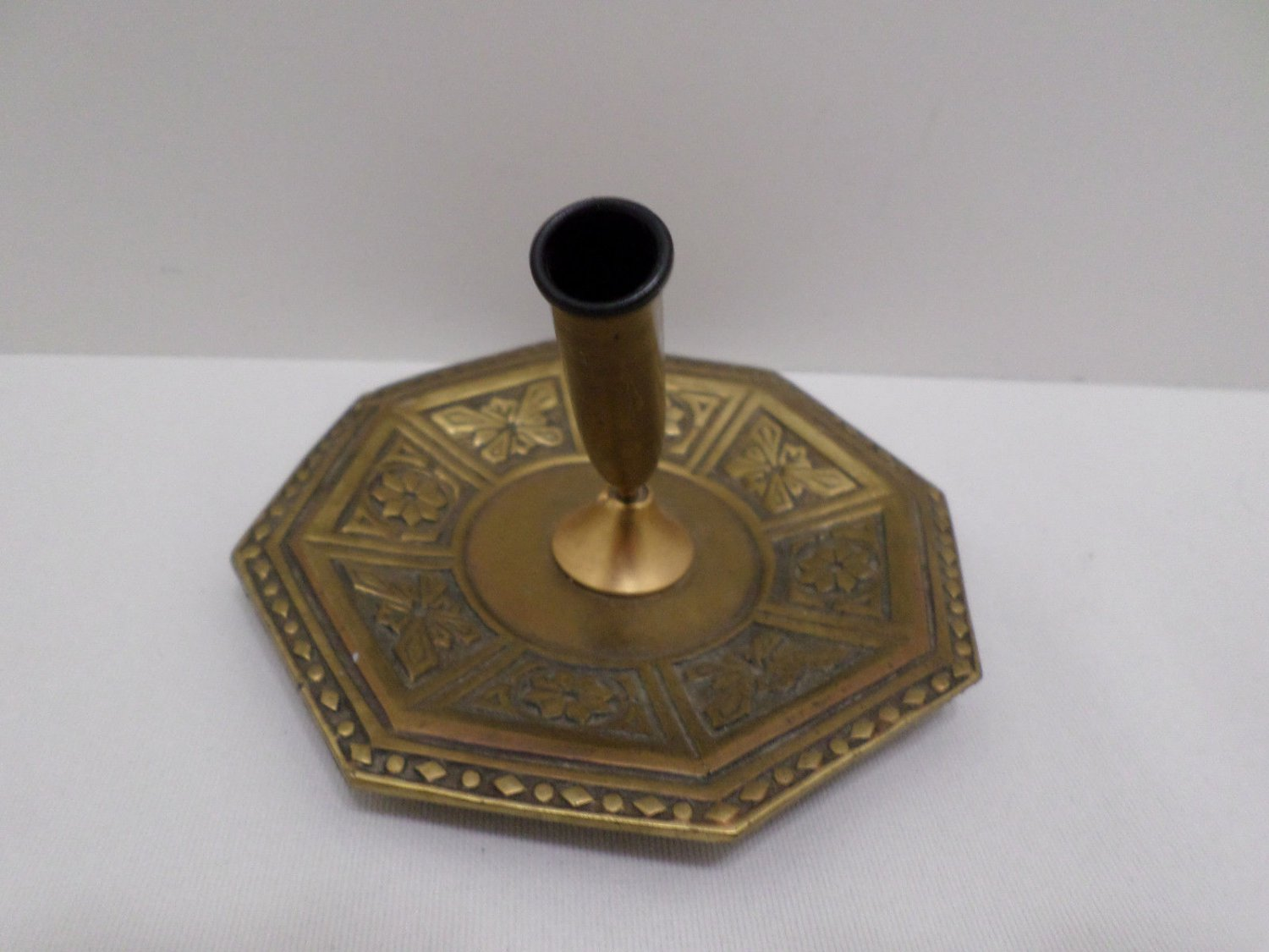 Vintage Solid Brass Ink Pen Holder Stamped J.B. 2880 on the Bottom
