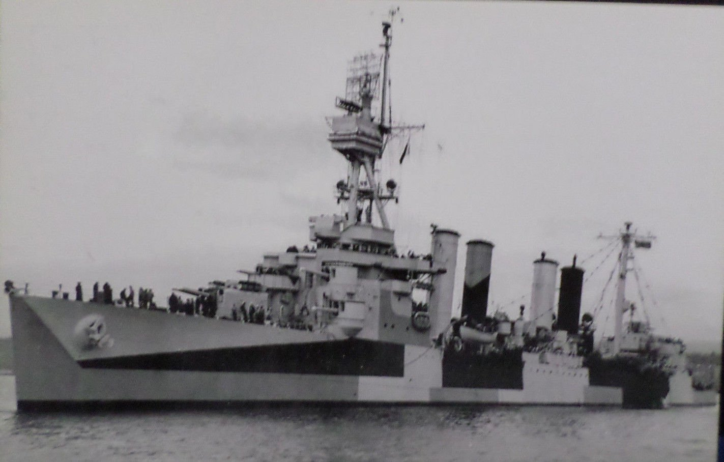 U.S.S. RICHMOND CL-9 Military Ship Real Photo Postcard Official U.S. Navy NEW