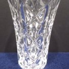 Crystal vase with an X pattern