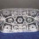 Serving Dish Clear Glass Rectangle Early American Prescutt Star of David