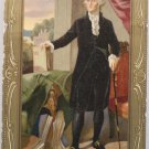 Antique Postcard President George Washington Germany Embossed Divided Posted