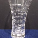 Crystal Vase with a Square Pattern