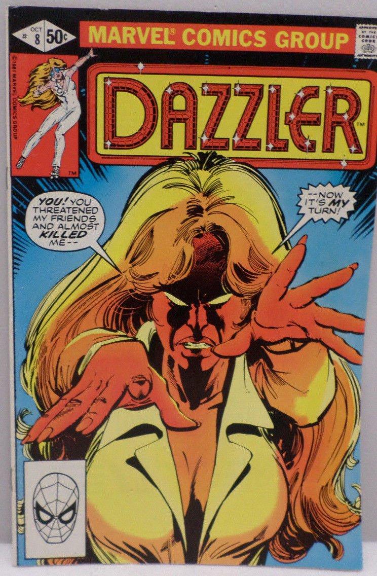 DAZZLER October 1981 No. 8 Marvel Comics Comic Book