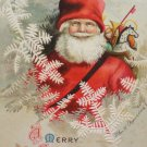 Christmas Postcard Santa Claus Ellen Clapsaddle Embossed Unposted