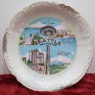Souvenir Collector Plate Seattle Washington Space Needle