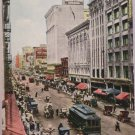 Real Photo Postcard Broadway Street in Los Angeles Ca USA Posted Divided 1912