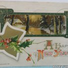 Antique 1911 New Year Postcard Country Scene John Winsch Germany Posted
