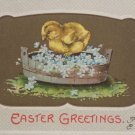 Antique Easter Postcard Baby Chick by Erika Embossed Posted Divided