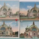 Four Postcards Panama Pacific Intl Expo San Francisco of Festival Hall