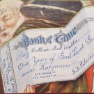 1908 New Year Postcard Santa Claus Bank of Time Embossed Posted Divided