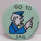 """Collector Pin Monopoly Game """"Go To Jail"""" Metal"""
