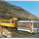 Real Photo Postcard The Last Passenger Trolleys in Colorado Unposted Divided