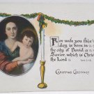 Antique Christmas Postcard Mary and Baby Jesus Unposted Divided