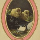 Easter Postcard Baby Chicks Germany Glossy Embossed Unposted Divided