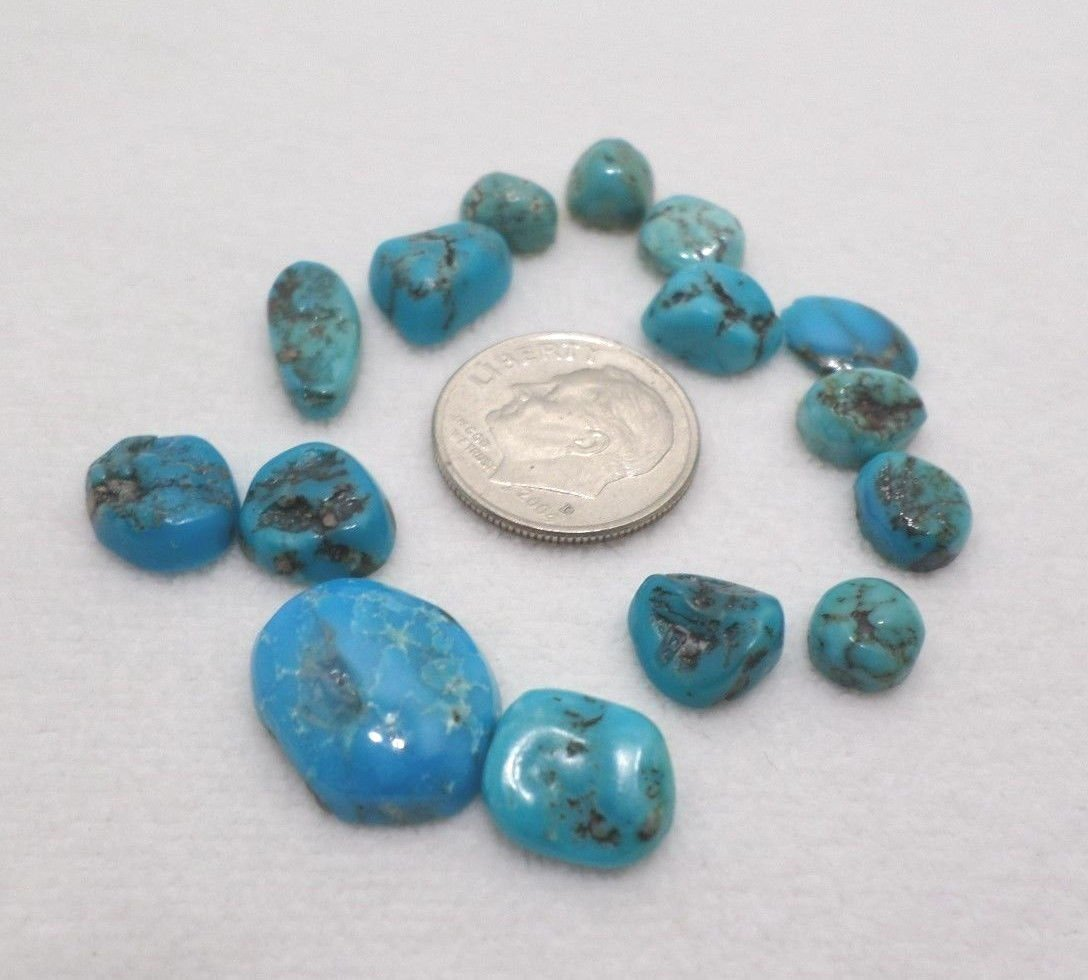 Natural turquoise Cabochons  33.5 carots Mined in Arizona