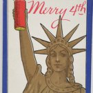 Antique Patriotic Postcard the Statue of Liberty Independance Day Unposted