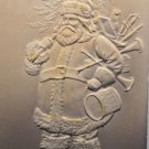Antique Christmas Postcard Santa Claus with a Tree and Toys Embossed Unposted