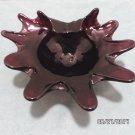 Ashtray Purple Art Glass with a Swirl Pattern on the Bottom