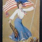 Antique Patriotic Postcard United States Flag undivided unposted