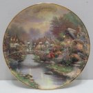 Collector Plate Lamp Light Bridge by Thomas Kinkade January Simpler Times Series