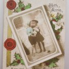 Christmas Postcard Real Picture Postcard of Two Little Girls London