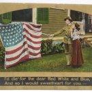 Antique Patriotc Postcard USA Flag Memorial Day Unposted Divided