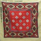 Vintage Bandana Scarf Do-Rag Southwestern Style made in USA