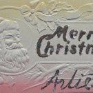 Antique Christmas Postcard Santa Claus Heavily Embossed