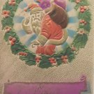 Antique Christmas Postcard Santa Claus Embossed Divided Posted 1911