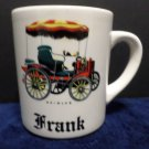 Vintage Coffee Mug Made in England with Daimler Car and the Name Frank on Front