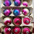 Shiny Brite Christmas Tree Ornaments Glass Multi Colored Bulbs USA Original Box