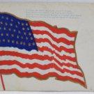 Antique Patriotic Postcard USA Flag Memorial Day Unpostesd Undivided