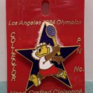 1984 Los Angeles Olympics Collector Pin Sam The Eagle Tennis Cloisonne New