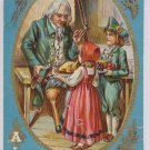 Antique Thanksgiving Postcard  Posted Embossed Divided