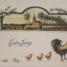 Antique Easter Postcard Baby Chicks Rooster Embossed Unposted Divided