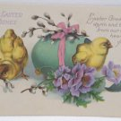 Antique Easter Postcard Baby Chicks Colored Egg Unposted Divided