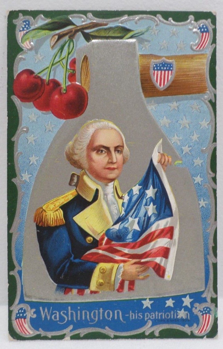 Antique Postcard President George Washington Divided Posted