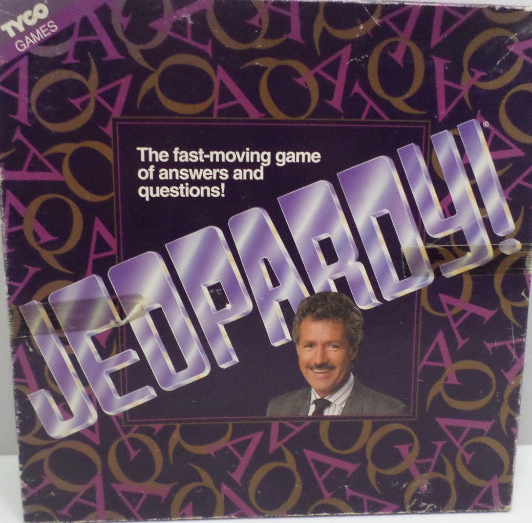 JEOPARDY The Fast Moving Game of Answers and Questions 1992 Tyco