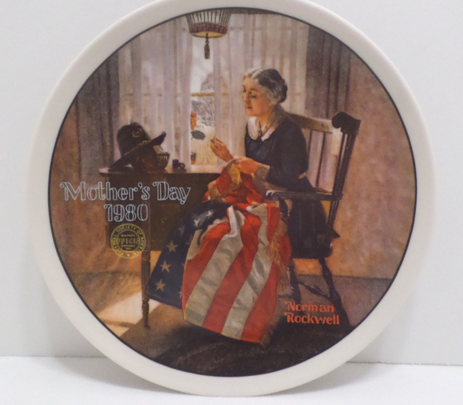 1984 Collector Plate A Mother's Pride by Norman Rockwell Bradford Exchange
