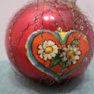 Christmas Ornament Mercury Glass Wire Wrapped Long Stem Red Bulb Germany