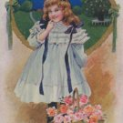 Antique Best Wishes Postcard unposted, Divided