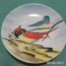 Collector Plate Hand Painted Bird Design Blue Brown Red made in Japan