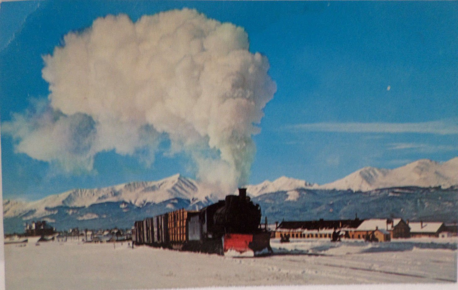 Real Photo Postcard Steam Engine Colorado and Southern Ry Unposted Divided