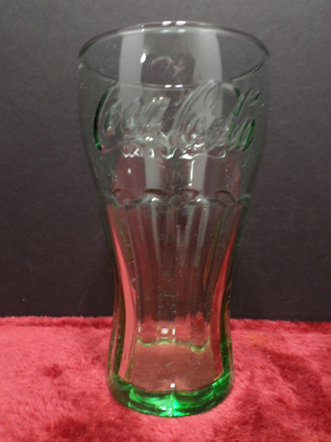 Drinking Glass Coca Cola Green Color Glass Collector