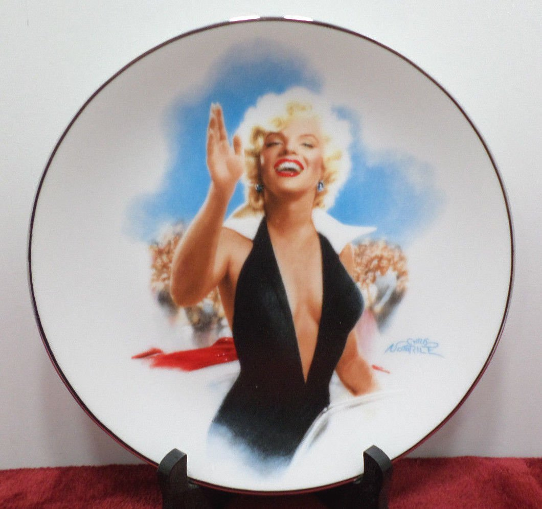 Collector Plate Marilyn Monroe Stopping Traffic Porcelain Bradford Exchange NOS