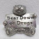 Lapel Pin Bear Down on Drugs