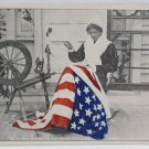 Antique Patriotic Postcard USA Flag Unposted Divided