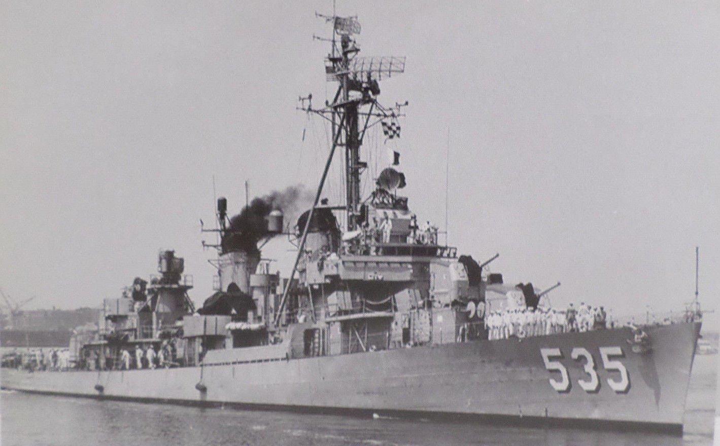 U.S.S. MILLER DD-535 Battleship Real Photo Postcard Official U.S. Navy NEW