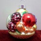 Vintage Mercury Glass Christmas Tree Ornament Basket of Fruit